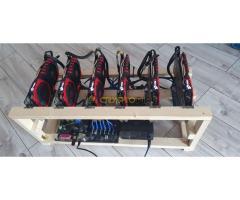 Bányász rig - 6x MSI RX 470 8GB - 170 MH/s