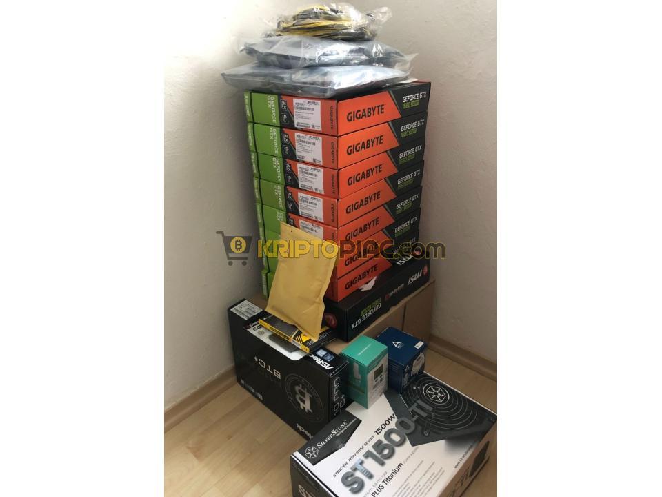 Mining Rig / 8x1660 SUPER, Bontatlan (SEALED) csomagolásban / 252.85 MH/s, 720W - 1/1
