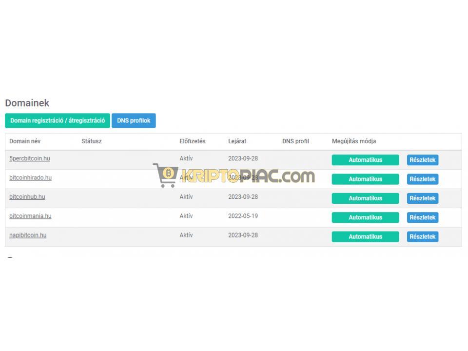 Napibitcoin.hu - Prémium Domainek Bitcoin és Kripto jellegű üzlethez - 1/1