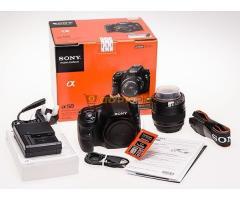Sony a58 DSLR fényképezőgép komplett fotós felszereléssel