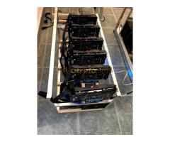 Komplett 6-os rig, Asus rx 570 kártyákkal
