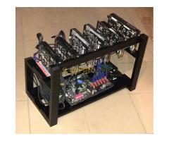 6 GPU-s ETH Bányászgép RIG