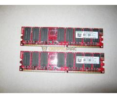 2 x 1 GB KingMax DDR1 memória modul