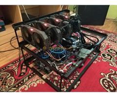 90 mh/s 4 kártyás RX570 rig eladó