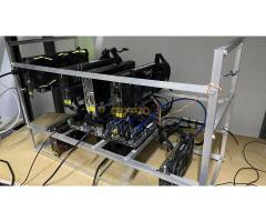 (ELADVA)130 MH/s termeléssel 6x GTX1060 6GB bánya rig eladó